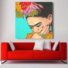 30% Off Today FRIDA KAHLO Print Canvas Gallery by FridaKahloArt