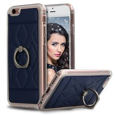 iPhone 6 Case, iPhone 6s Case, iMangoo Premium Shockproof Protective Soft Bumper iPhone 6 Case Durable Kickstand Shell Stylish Ring Drop Resistance Cover Cases for Apple iPhone 6 6s 4.7 Inch Navy Blue. iPhone 6 Case: Compatible for Apple iPhone 6 / 6s - Quick and easy installation for a 100% perfect fit. iPhone 6s Shock-absorbing Case: Soft bumper for shock absorption; Raised Edge Around the Front Lip for Tough Face-Down Protection. EASY ACCESS and EASY PRESS BUTTONS: Quick and easy…
