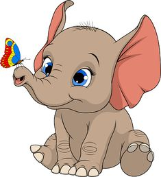 Cute Elephant Cartoon, Cute Baby Elephant, Elephant Art, Baby Cartoon, Cartoon Pics, Cartoon Drawings, Cute Cartoon, Cute Drawings, Cute Elephant Drawing