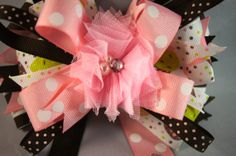 Happy Birthday stacked handmade hair bow by CinderellaBowtique, $7.50
