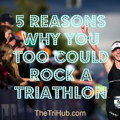 5 Reasons Why You Could Rock A Triathlon: We all tend to be afraid of what we don't know or understand. Even if you don't think you are triathlete material keep reading to see what type of person is a good fit for this sport. Sprint Triathlon Training, Ultra Marathon Training, Triathlon Gear, Iron Man Training, Training Tips, Triathlon Motivation, Fitness Motivation, Athletic Events, Bike Run