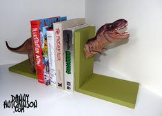 Serre-livres dinosaure vert Tyrannosaurus Rex T-Rex
