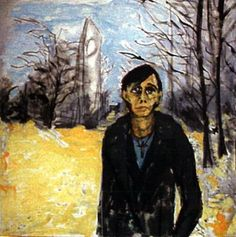 Another portrait by David Bowie of Iggy Pop, this one set in Berlin