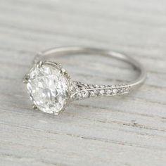 Image of 2.04 Carat J.E. Caldwell & Co. Vintage Diamond Engagement Ring