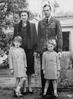 regalmajesty:  The Duke and The Duchess of Kent with their children Prince Edward and Princess Alexandra.