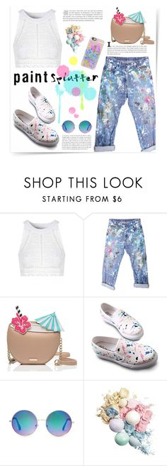 """""""Paint Splatter"""" by katrinaalice ❤ liked on Polyvore featuring See by Chloé, Rialto Jean Project, Kate Spade, Forever 21, Casetify and paintsplatter"""
