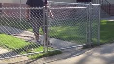 Chain link fence gates  #link Check more at http://thefencing.info/chain-link-fence-gates/