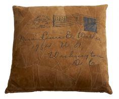 Vintage Kissen Letter Wildleder..wie schön