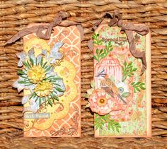 ScrapBerry's: Lovely The Art of Nature tags made by the talented Denise van Deventer #tags #mixedmedia #friends