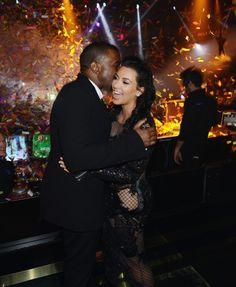 Kanye West and Kim Kardashian.