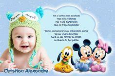 Convite digital personalizado Baby Disney com foto 001