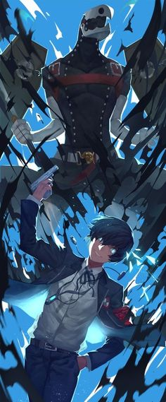 Persona 3 - Male Protagonist and Thanatos by Nanaya