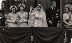 There was no kiss on the balcony in 1947 when Princess Elizabeth and Prince Philip were married