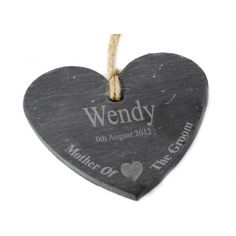 Engraved Mother of the Groom Slate Heart Keepsake  from www.personalisedweddinggifts.co.uk :: ONLY £12.95