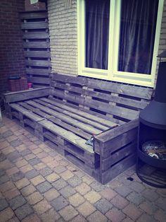 Industrial Design: Pallet loungebank / Pallet lounge sofa / Lounge-Sofa Pallette. www.kruizinga.nl