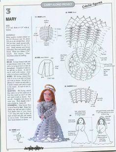 Crochet Fairy, Crochet Angels, Irish Crochet, Crochet Flowers, Crochet Christmas Ornaments, Holiday Crochet, Christmas Crafts, Christmas Nativity Scene, Christmas Angels