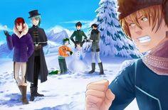 A docete fica rodeada de meninos e ao invés dela dar uns pegas neles,eles fazem um boneco de neve com ela...
