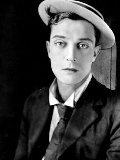 "Joseph Frank ""Buster"" Keaton (October 1895 – February was an American comic actor, filmmaker, producer and writer. Golden Age Of Hollywood, Hollywood Stars, Classic Hollywood, Old Hollywood, Portraits, Portrait Shots, Silent Film Stars, Movie Stars, Buster Keaton"