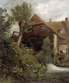 A Watermill at Gillingham, Dorset by John Constable Date painted: 1823–1827 Collection: Victoria and Albert Museum
