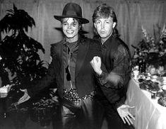 MJ and famous singer Paul Mc Cartney December 29 1989