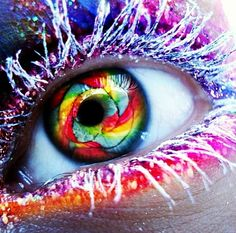 Eye candy omgs I love this, beautiful image work! No models' eyes were harmed in the making of this lovely work of art :) Pretty Eyes, Cool Eyes, Beautiful Eyes, Amazing Eyes, Amazing Art, Simply Beautiful, Eye Candy, Candy Makeup, Rainbow Eyes