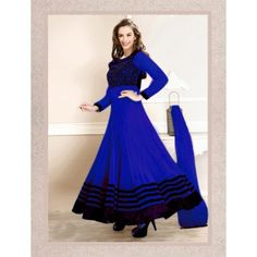 Thankar Latest Designer Heavy Blue Embroidery Anarkali Suit