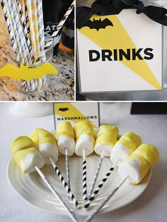 black and yellow kids party decor