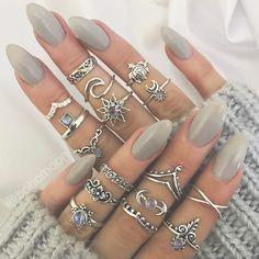 www.BOHOMOON.com Nail Jewelry, Jewelry Logo, Cute Jewelry, Bridal Jewelry, Cheap Jewelry, Jewelry Rings, Jewelry Shop, Jewellery Box, Handmade Jewelry