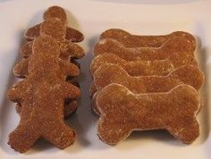 gingerbread recipe for dog biscuits (substitute the whole wheat flour with an all-purpose gluten free mix)