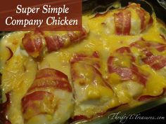 With only 7 ingredients, you'll have this Super Simple Company Chicken in the oven in under 15 minutes!