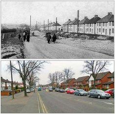 Saffron Lane then and now.