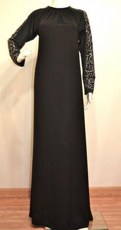 Hayaa Clothing - Khadijah SILVER Arabic Calligraphy  Sleeves Black Umbrella Abaya , $52.00 (http://www.hayaaclothing.com/copy-of-khadijah-blue-arabic-calligraphy-sleeves-black-umbrella-abaya/)