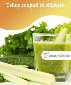 #Țelina te ajută să slăbești!  Nu este nici un secret faptul că legumele (inclusiv țelina) ne pot oferi numeroase beneficii pentru sănătatea noastră, motiv pentru care este bine să le includem în dieta noastră zilnică. De #asemenea, știm foarte bine cu toții că dacă avem o greutate #corporală normală vom avea o #calitate a vieții mult mai ridicată. Celery, Remedies, Food, Facials, Veggies, Loosing Weight, Diet, Essen, Yemek