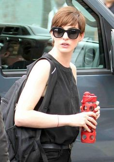"""#ANNEHATHAWAY spotted wearing the #THIERRYLASRY """"SEXXXY"""" BLACK MATTE Available at #JosephsonOpticians"""