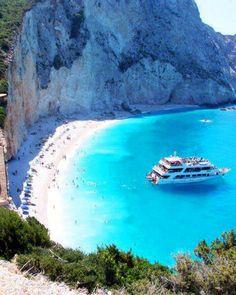 Porto Katsiki a wonderful Ioanian Sea island of Lefkada it's the most famous beach in Greece.