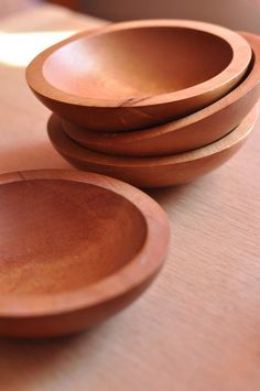 Wood bowls by RetroSphere