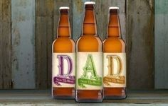 Personalised Beer 3 pack D-A-D - Perfect for #Father's Day! #'FathersDay #Dad #Beer £19.99