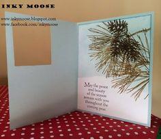 Inky Moose Ornamental Pines- window card, great idea.