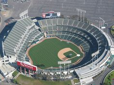 Oakland Coliseum.  Home of the Oakland Athletics and Oakland Raiders.