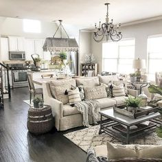 55 Incredible Farmhouse Living Room Sofa Design Ideas And Decor – My Sweet Home Living Room Sofa Design, Home Living Room, Living Room Designs, Dark Floor Living Room, Living Room Ideas Open Floor Plan, Grey Living Rooms, Living Area, Fixer Upper Living Room, French Living Rooms