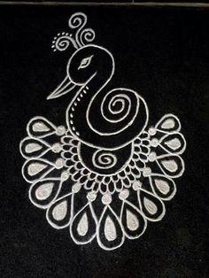 Favone for earring Small Rangoli Design, Rangoli Patterns, Rangoli Ideas, Rangoli Designs Images, Rangoli Designs Diwali, Kolam Rangoli, Beautiful Rangoli Designs, Mehandi Designs, Indian Rangoli