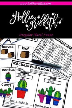 Teach students to use irregular plural nouns with this engaging hands-on resource. This bundle includes 6 days of lessons, a PowerPoint presentation, anchor charts, class games with recording sheets, interactive notebook pages, task cards, a craft, and a quick assessment. This is a complete hands-on mini unit that will add fun and excitement to your classroom.