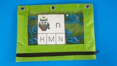 Store cards and clips in zippered supply pouches to make early finisher activities and take home activities.  $ #lettermatching   #Winter #ELA  #owls  #KampKindergarten  https://www.teacherspayteachers.com/Product/Winter-Math-and-Literacy-Centers-with-Fowl-Weather-Friends-1685269