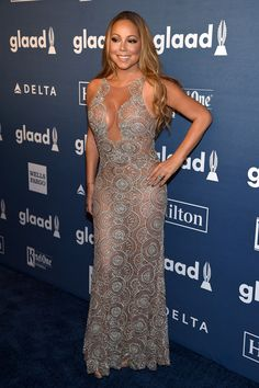 "Mariah Carey: wearing a Mark Zunino Haute Couture gown | 27th Annual GLAAD Media ""Ally"" Award NYC 14 May 2016"