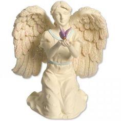 Engel met gekleurde vlinder - Leni Webshop