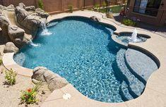 Freeform and Natural Swimming Pool Designs — Presidential Pools, Spas & Patio of Arizona Backyard Pool Landscaping, Backyard Pool Designs, Small Backyard Pools, Swimming Pools Backyard, Outdoor Pool, Acreage Landscaping, Lap Pools, Indoor Pools, Small Pools