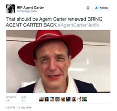 "Fan Are Not Pleased That ""Agent Carter"" Was Cancelled"