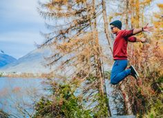"""""""Whether we sink or swim, at least we took that leap of faith"""". A beautiful, scenic morning walk in Queenstown, New Zealand. Sink Or Swim, Leap Of Faith, Photo Booth, New Zealand, Special Events, Studios, At Least, Swimming, Mountains"""