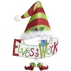Pier 1 Elves at Work Wall Decor--This would be great to hang on the door you're wrapping gifts in.