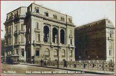 Hotel de La Rotisserie Sporstman, onde se hospedavam ilustres, era uma dos três palacetes Prates, que adornavam o Parque do Anhangabaú, de estilos totalmente europeus. O Hotel em 1932, fazendo esquina com o antigo Viaduto do Chá. (SP)
